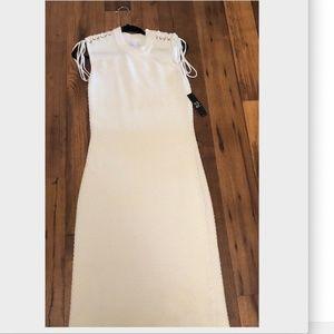 New York & Company white dress eva mendez size M